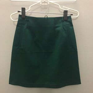 NWT H&M dark teal/green pencil skirt